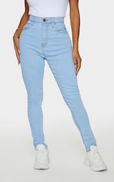 Shape Light Wash High Waist Super Stretch Skinny Jeans 2