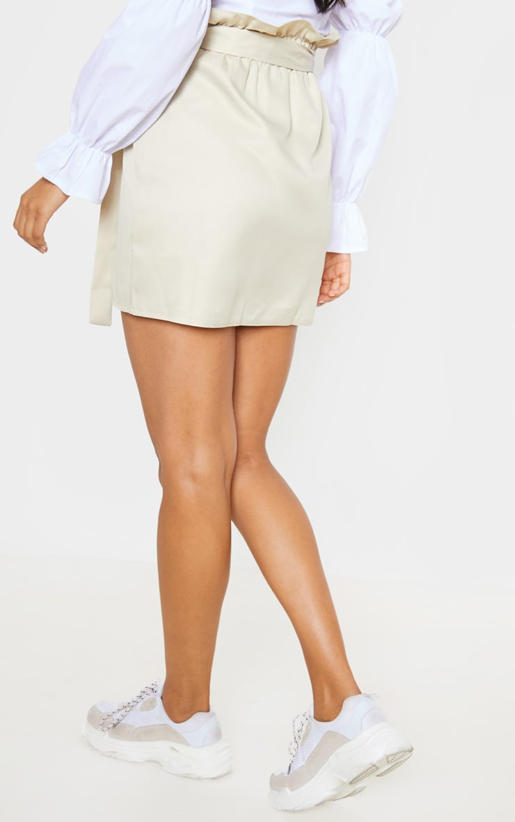 Stone Pocket Detail Tie Waist Mini Skirt 4