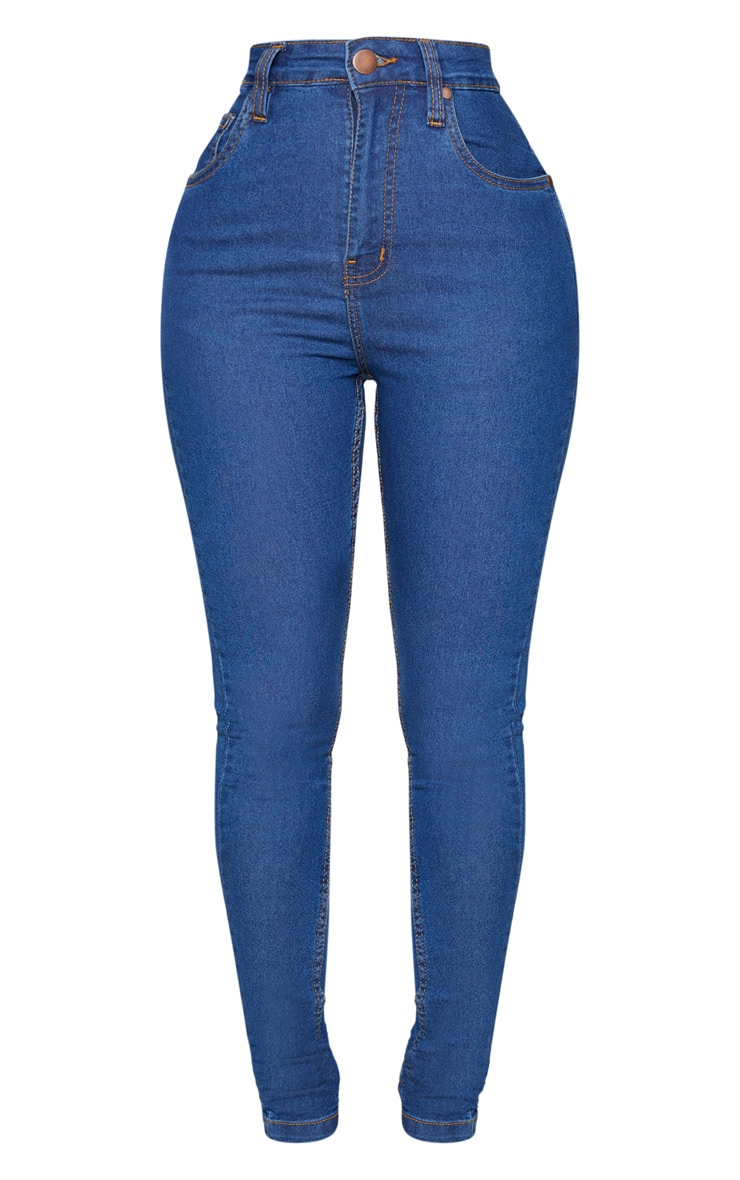 Shape Mid Blue Wash High Waist Skinny Jeans 5