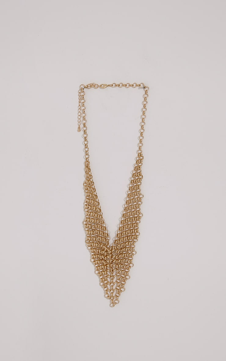 Veda Gold Chainmail Necklace 1