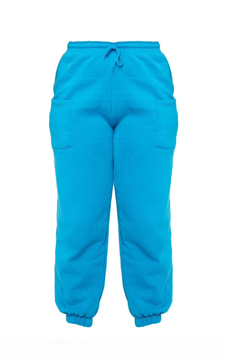 Plus Blue Pocket Thigh Casual Joggers 5