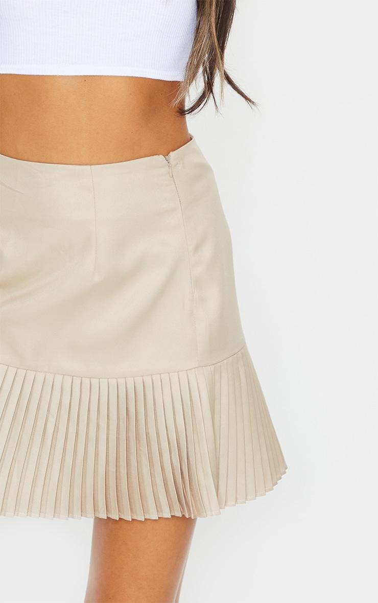 Stone Pleated Hem Mini Skirt 5