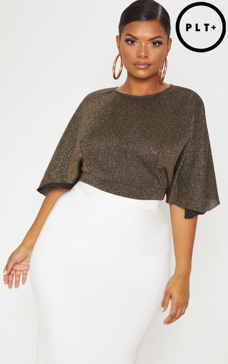 404e9b6000793 plus-gold-glitter-tie-back-batwing-crop-top by