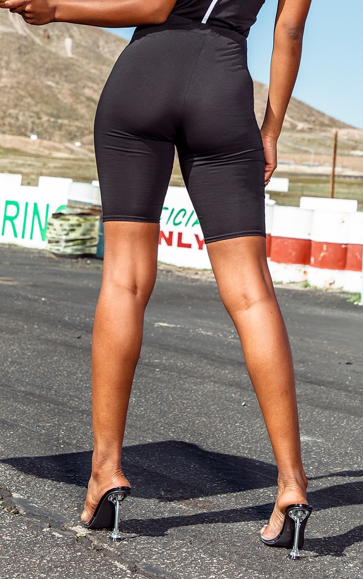 PRETTYLITTLETHING Black Fitted Cycle Shorts 3