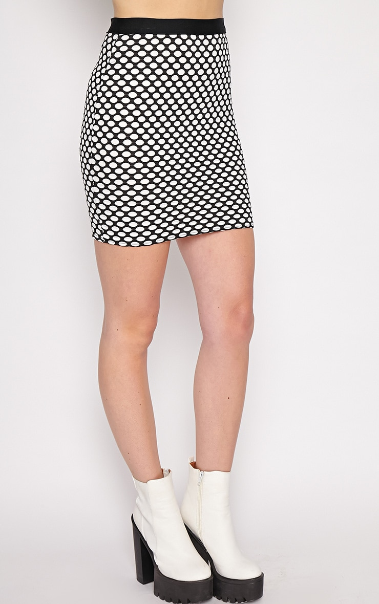 Lara White Spotted Skirt -M/L 3