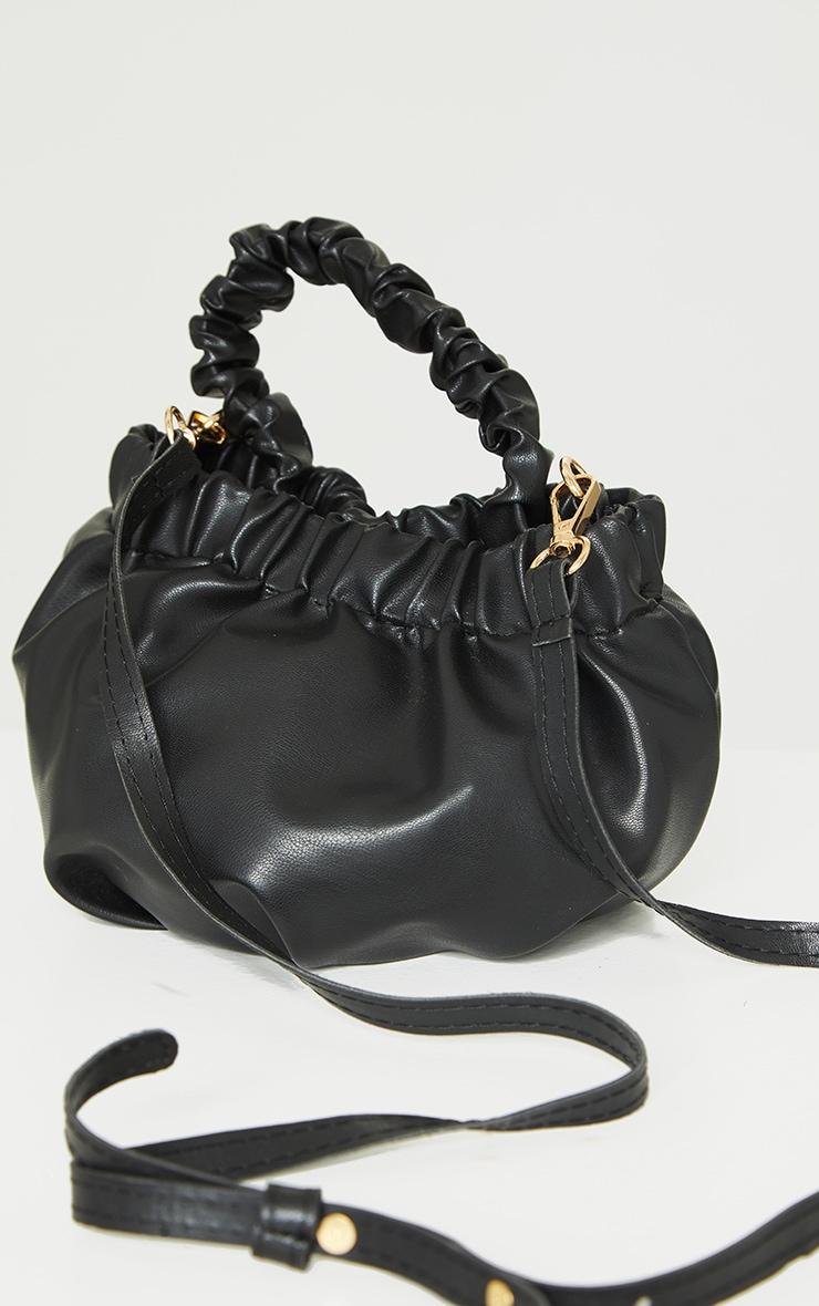 Black Ruched Mini Handbag 3
