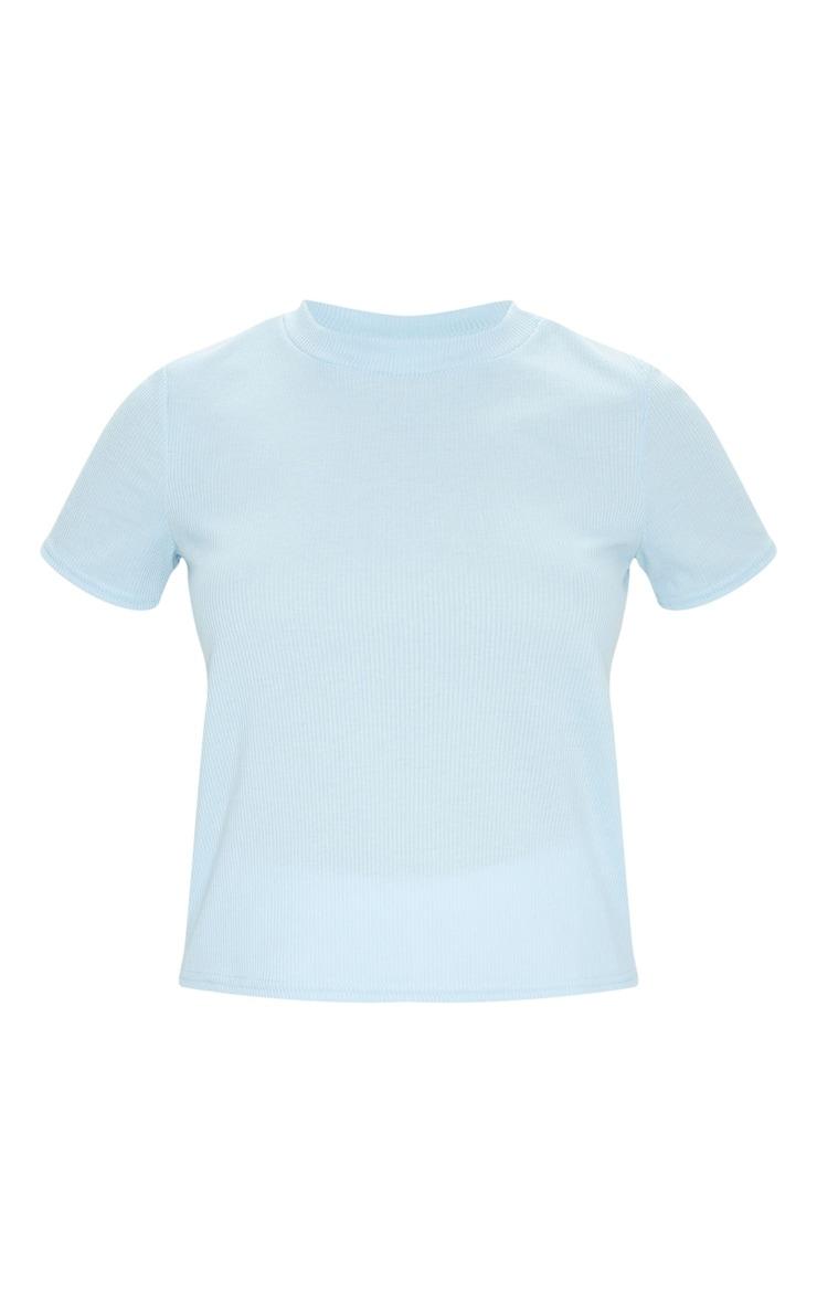 Baby Blue Soft Rib T Shirt 5