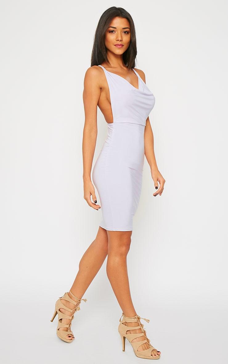 Orion Lilac Slinky Cowl Neck Dress 1