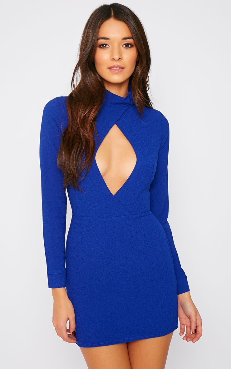 Edie Cobalt Cut Out Dress 1