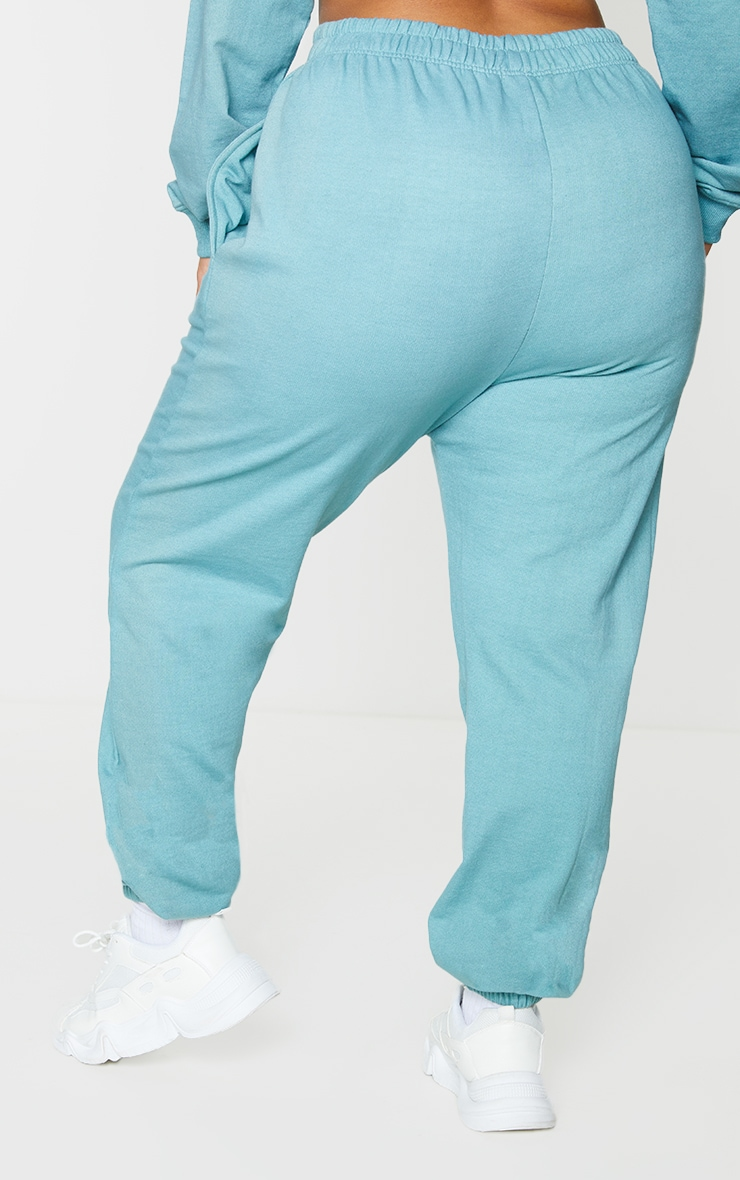 Plus Teal California Print Joggers 3