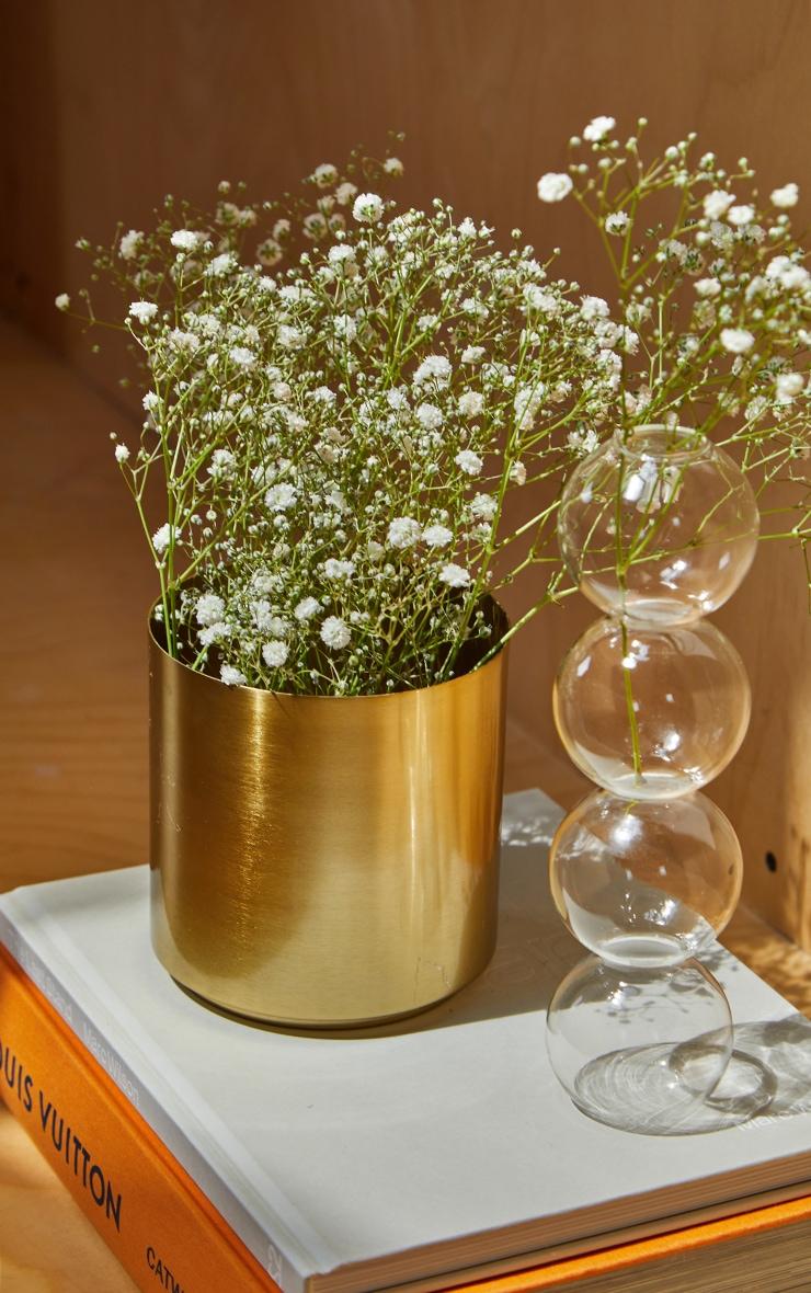 Gold Round Metal Vase 3