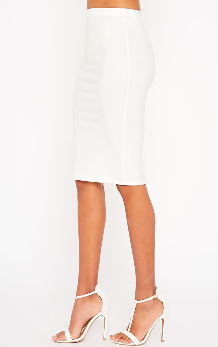 Klarisa Cream Midi Skirt 3