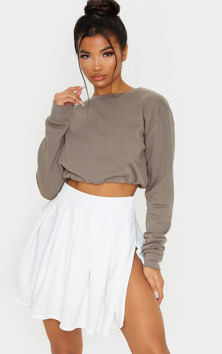 White Pleated Tennis Skirt 1