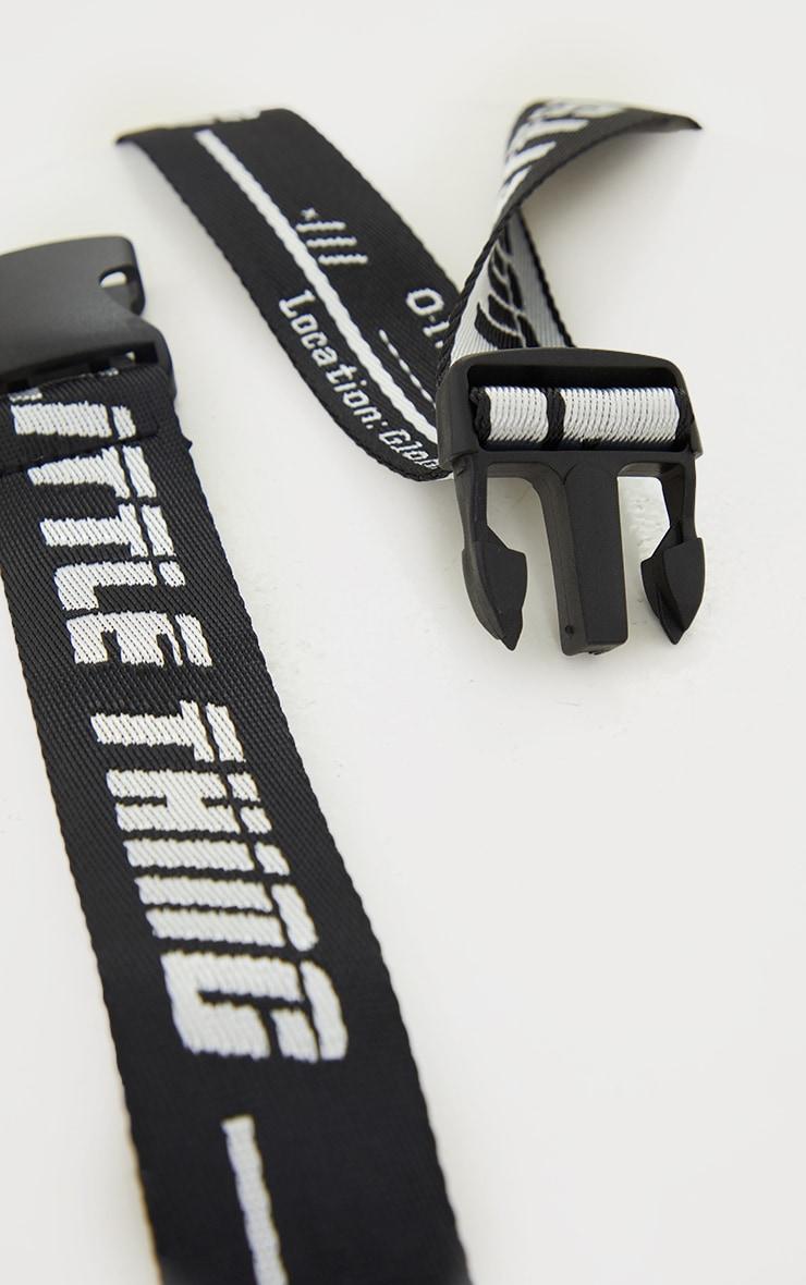 PRETTYLITTLETHING Black Reversible Taping Belt 3