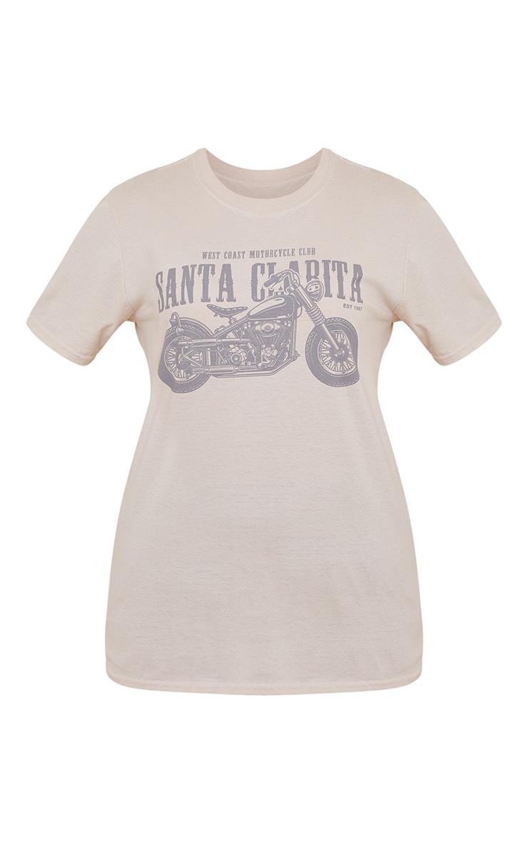 Sand Santa Clarita Motorcycle Print Fitted T Shirt 5