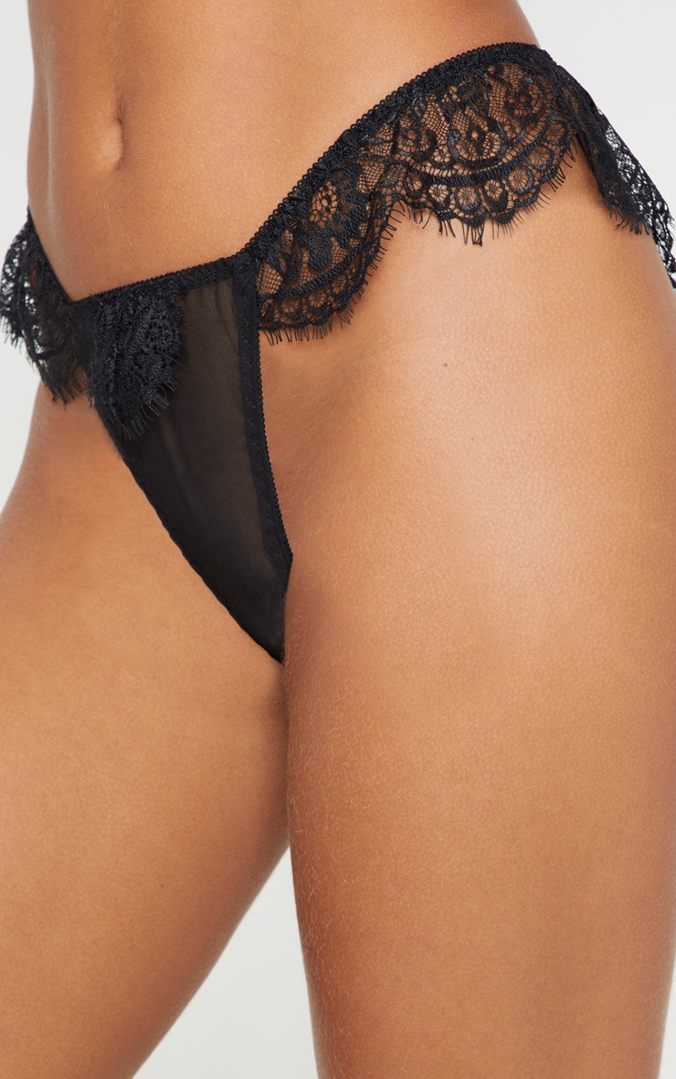 Black Lace Frill Panties 5
