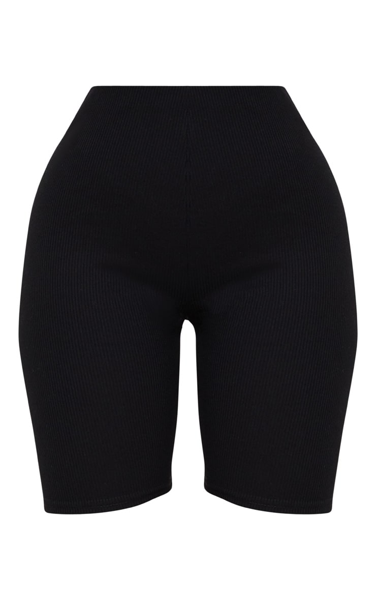 Shape Black Ribbed Cycling Shorts 3