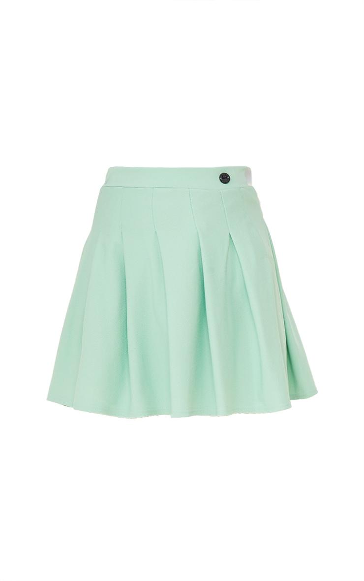 Mint Green Pleated Side Split Tennis Skirt 6