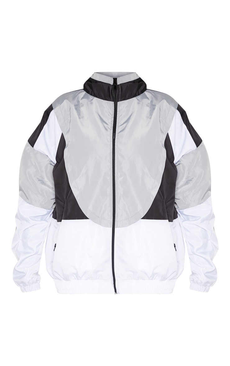 White Colourblock Tracksuit Windbreaker 3