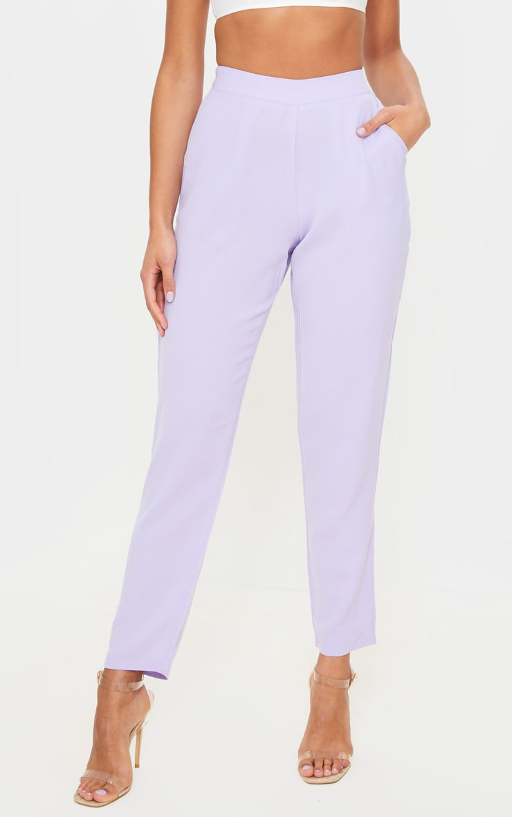 Lilac Tailored Trousers 3