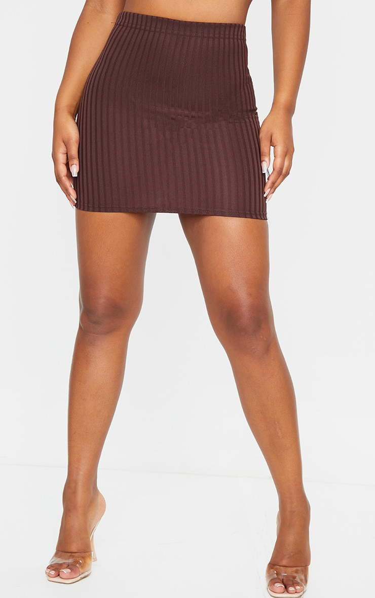 Chocolate Rib Mini Skirt 2