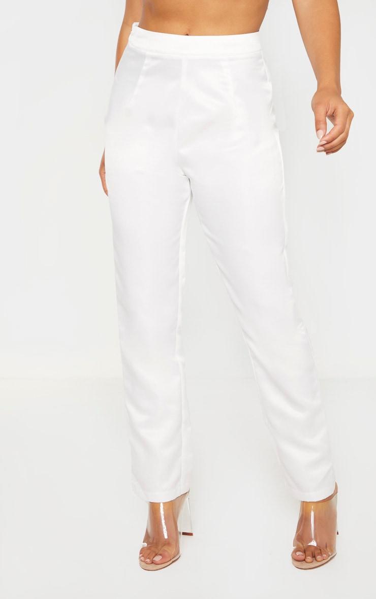 Petite Cream Skinny Suit Pants 2