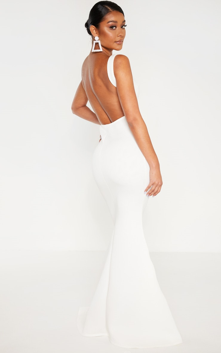 White Strappy Square Neck Maxi Dress 2