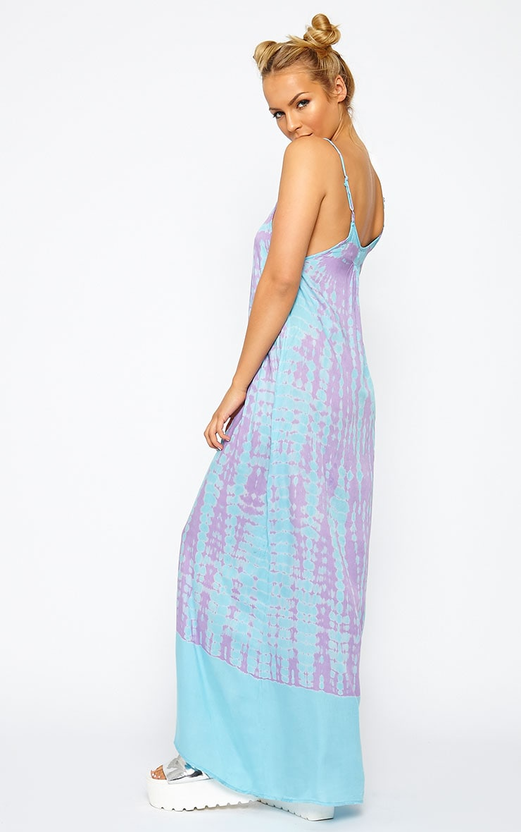 Zadie Purple Tie Dye Maxi Dress 3