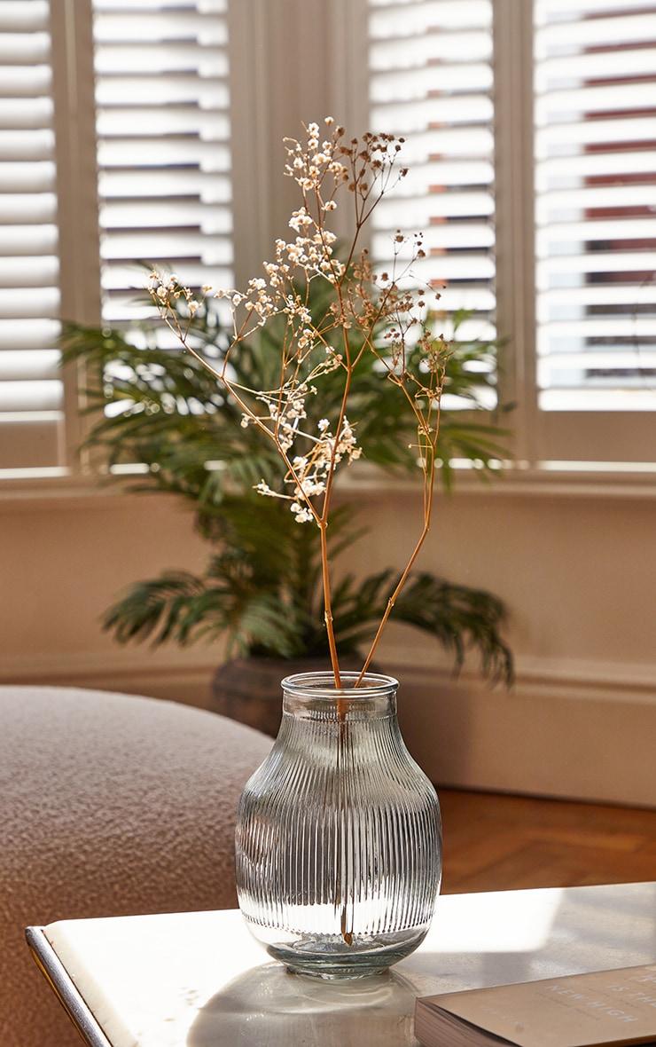 Grey Glass Round Vase 2