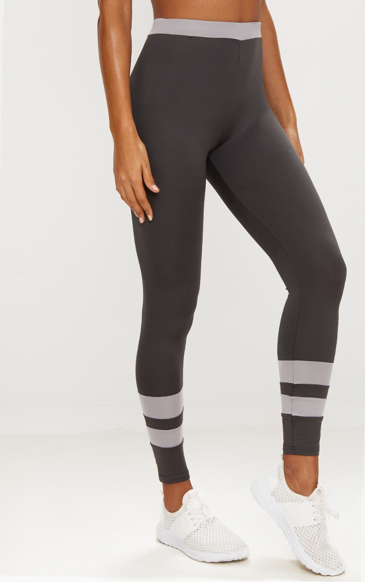 Contrast Charcoal Leggings 2