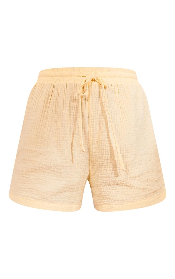 Pastel Yellow Woven Floaty Shorts 6