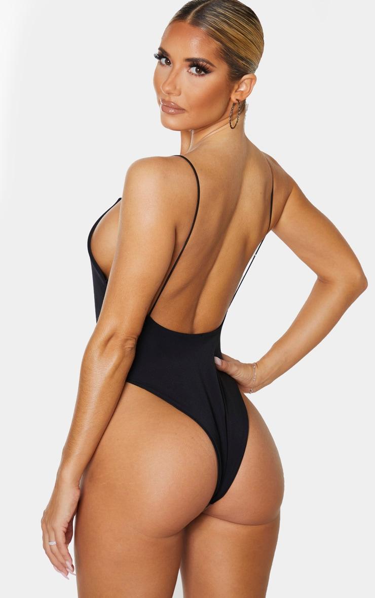 Black Skinny Strap Swimsuit 2