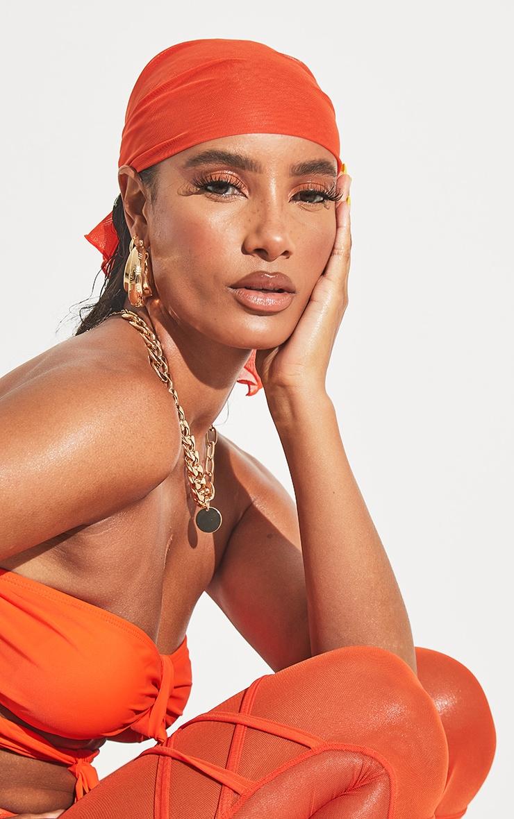 Orange Mesh Bandana 1