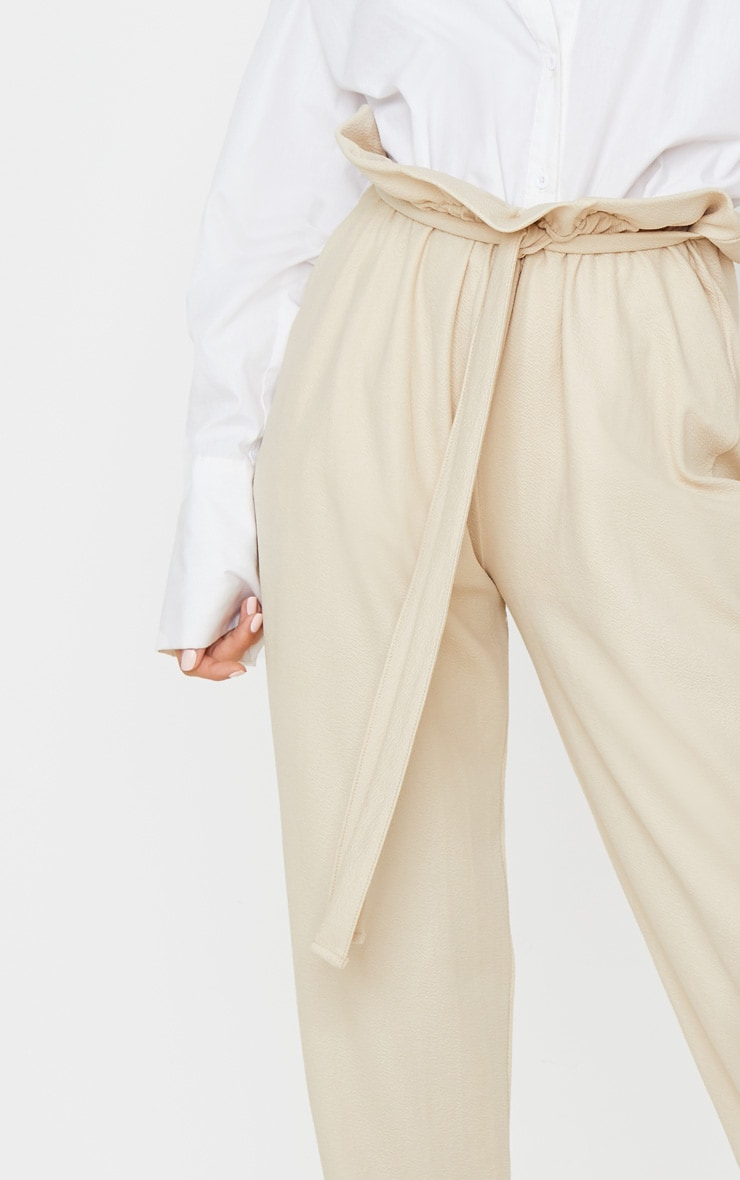 Stone Coated Paperbag Waist Pants 4