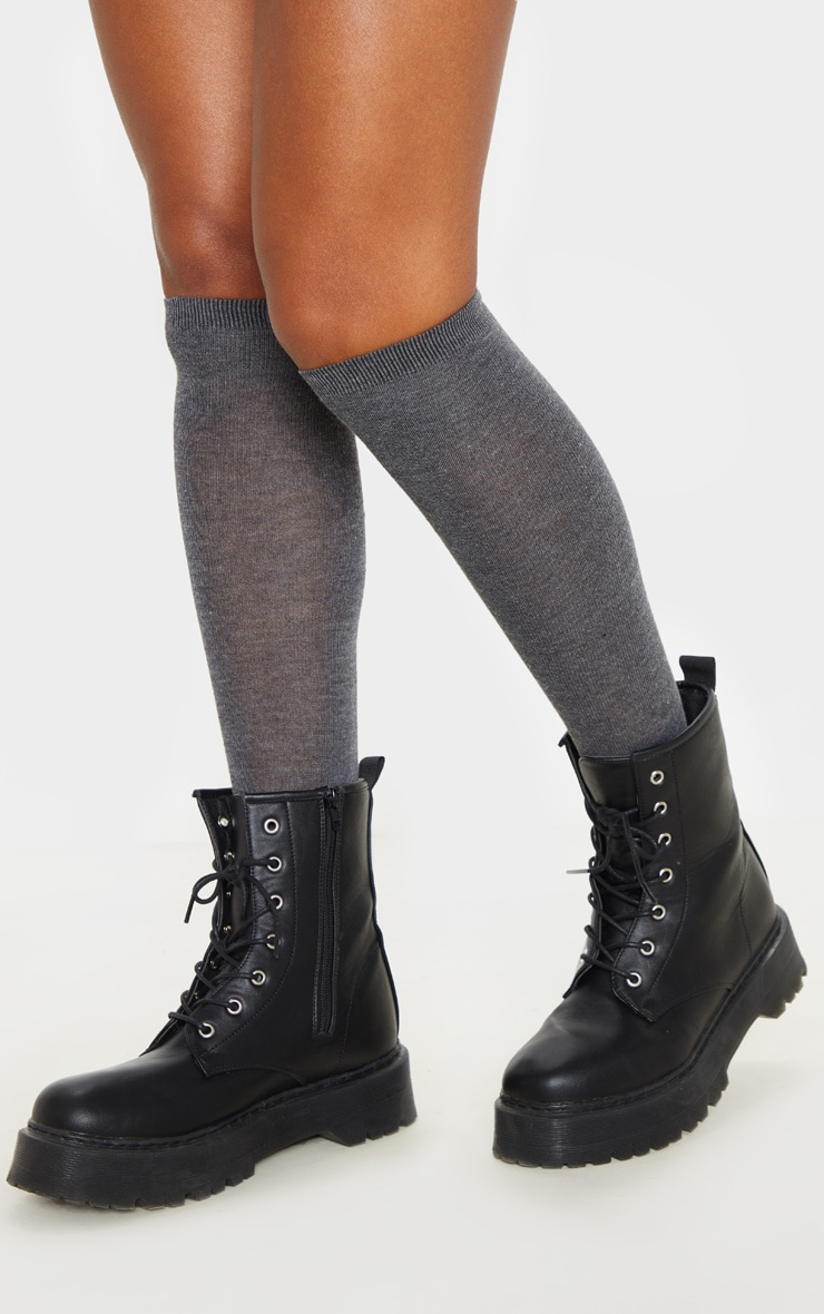 Grey Over The Knee Socks Three Pack 2