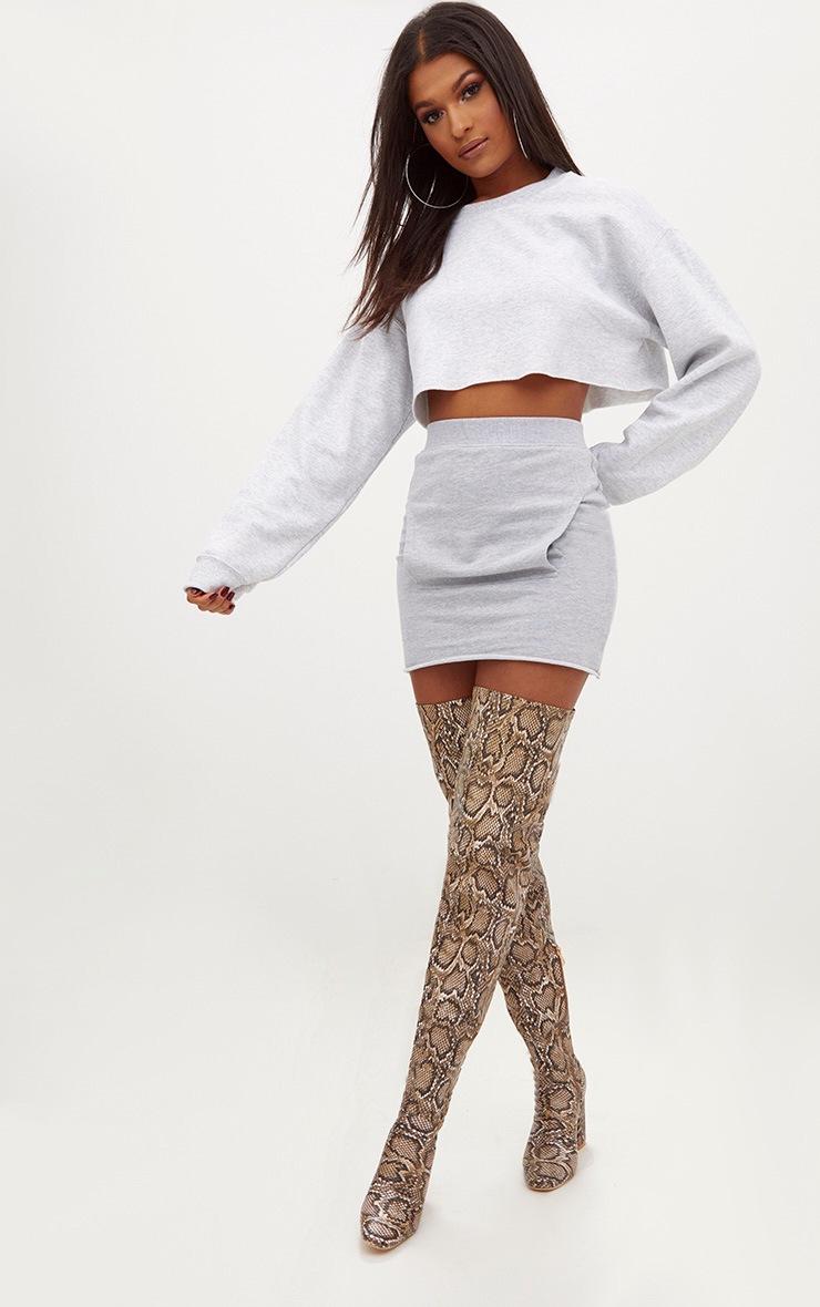 Grey Sweat Pocket Mini Skirt 5