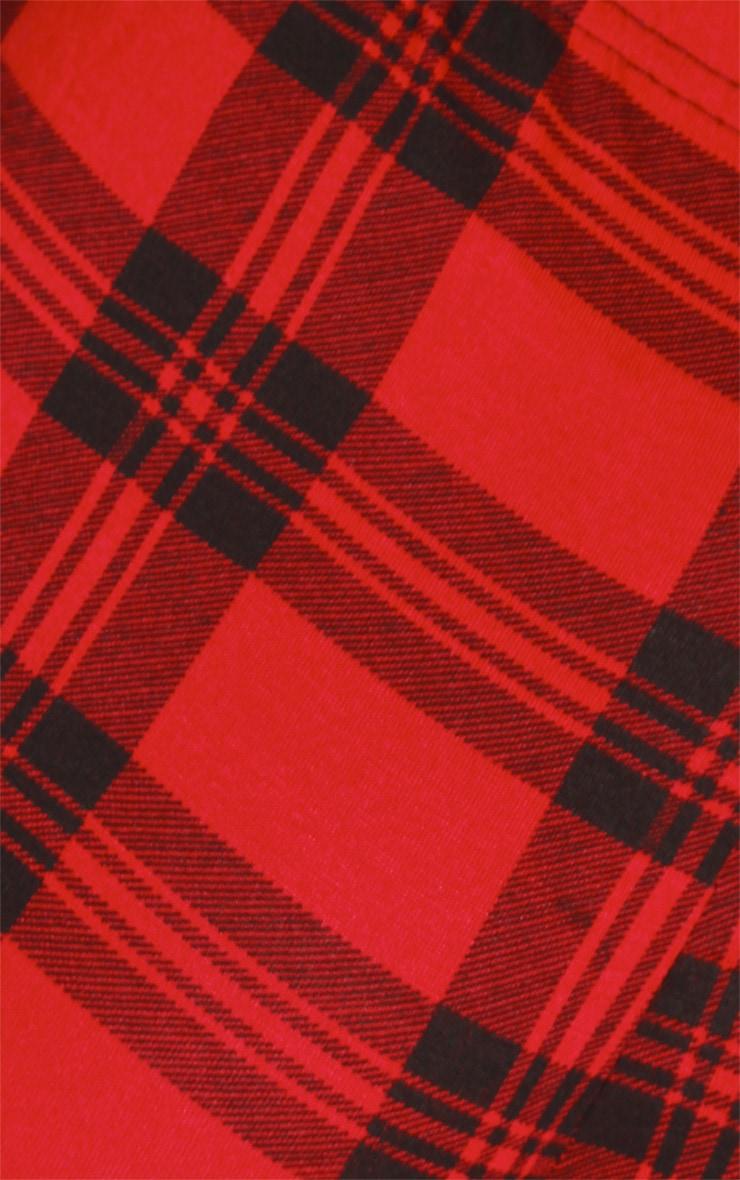 Bellamy Red Tartan Hotpants  4