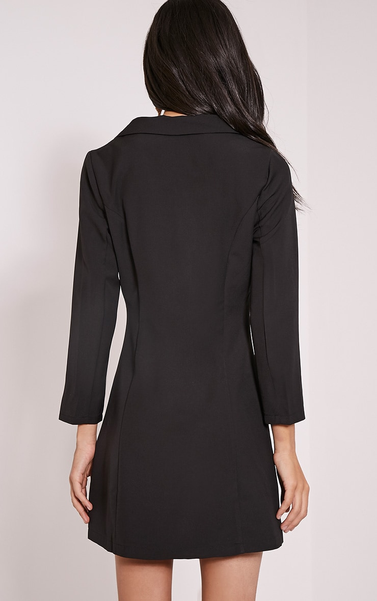 Tobyn Black Double Breasted Blazer Dress 2