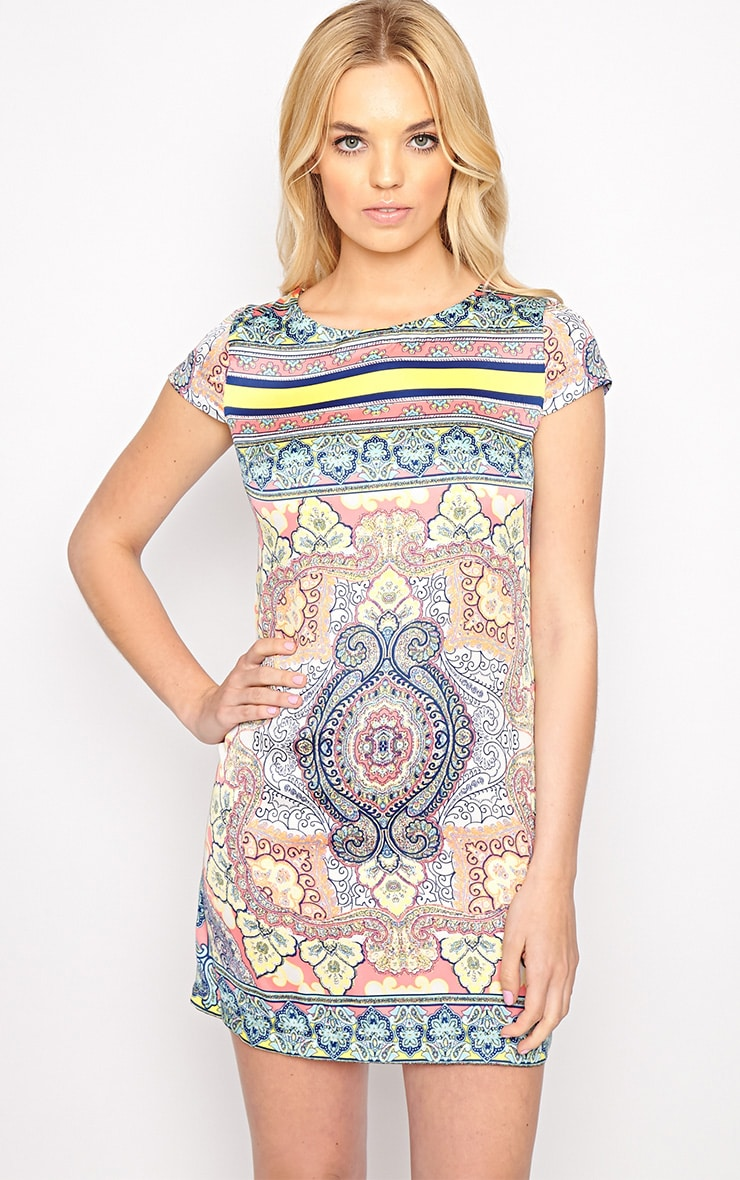 Brooklyn Pink Paisley Print Shift Dress 1