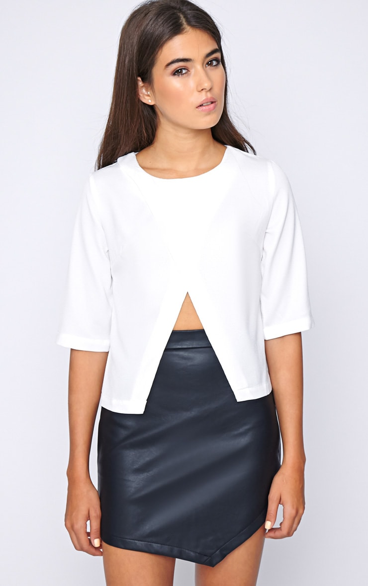 Sarah White Cut Out Tee  1