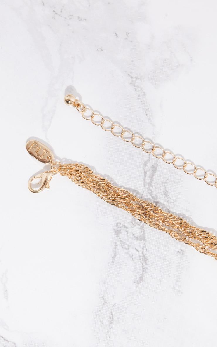 Gold Rose Drop Necklace 4