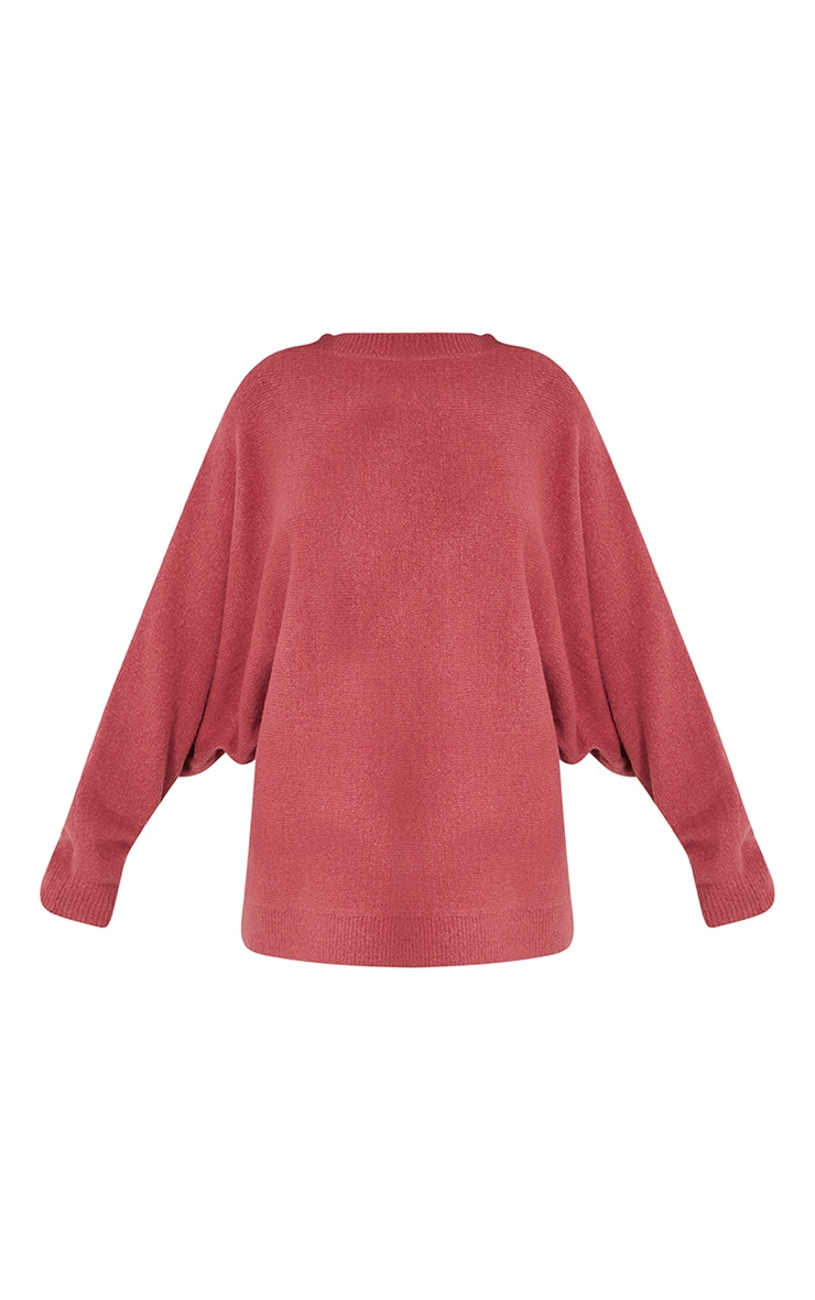 Raysa Dark Rose Oversized Knitted Jumper 3