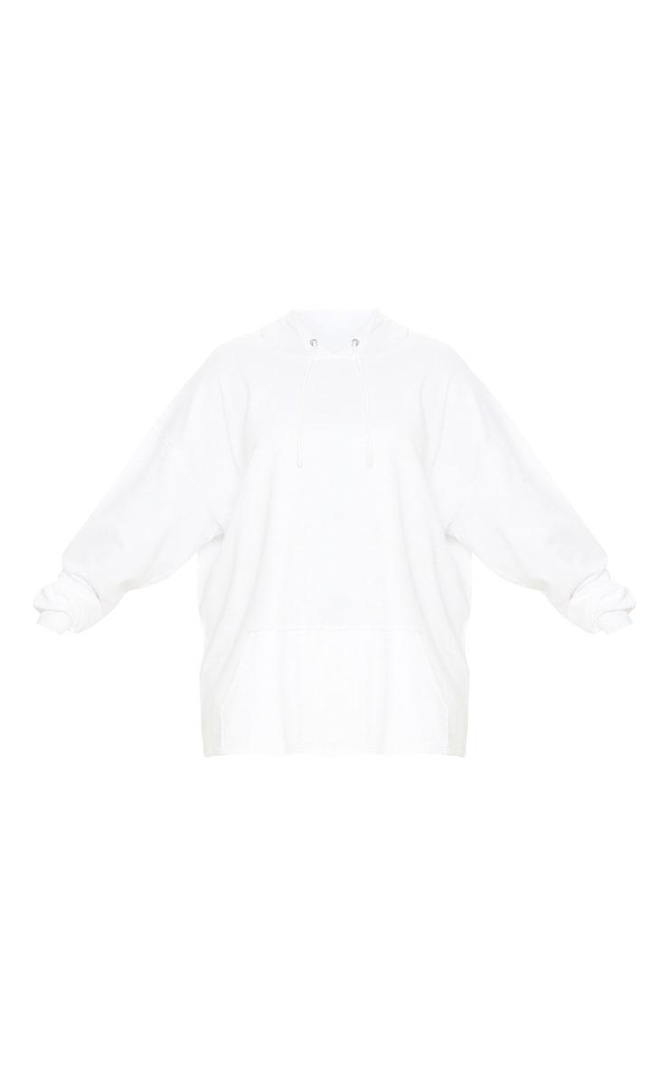 Plus White Oversize Hoodie 3