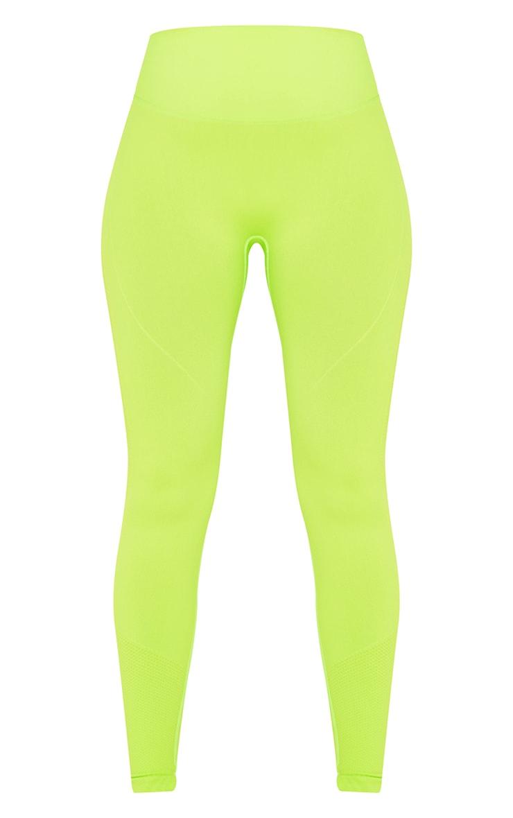 Green Seamless Booty Detail Gym Leggings 5