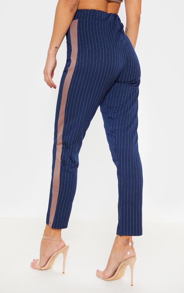 Navy Pinstripe Formal Side Stripe Trouser 4