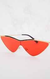 Red Extreme Cat Eye Sports Sunglasses 4