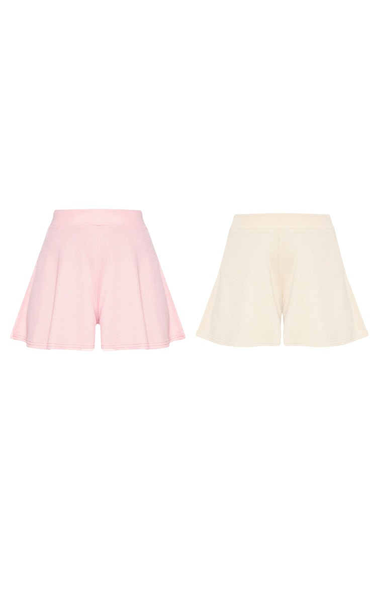 Stone & Dusty Pink 2 Pack Floaty Short 3