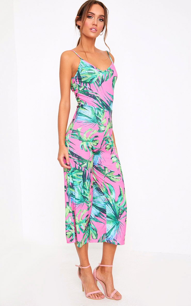 Kailyn Printed Jersey Culotte Jumpsuit 4