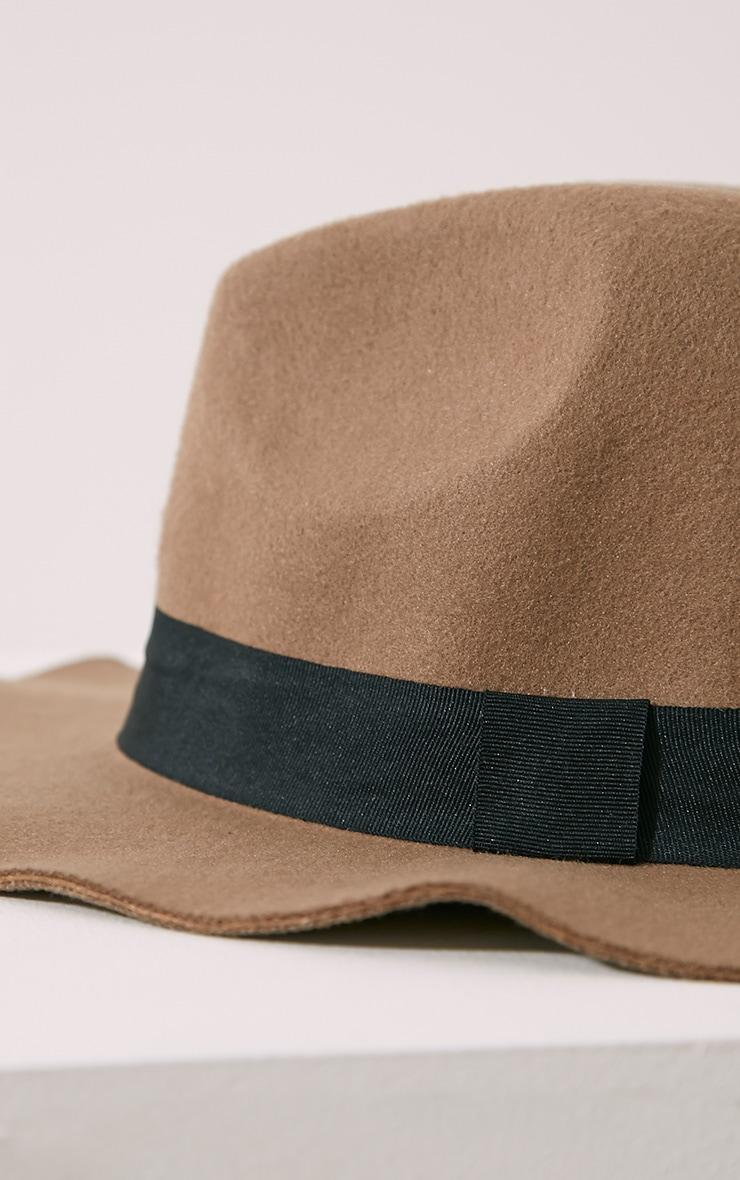 Raya Camel Fedora Hat 4