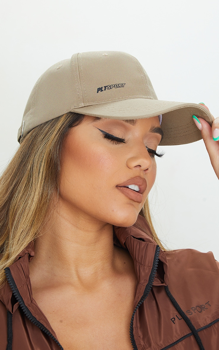 PRETTYLITTLETHING Taupe Sports Cap 1